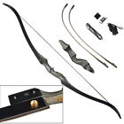 """Archery Takedown Recurve Bow 60"""" with Laminated Bamboo Core Limbs Hunting Target"""