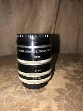 SOLIGOR  AUTOMATIC EXTENSION TUBE SET Fit Canon -FTb  12mm, 20mm,& 36mm