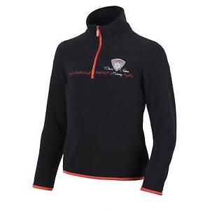 CMP Fleece Upper Part Functional Shirt Black Breathable Zip Insulating