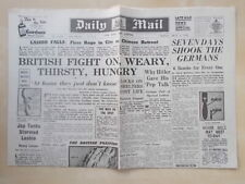 DAILY MAIL WWII NEWSPAPER MAY 1st 1942 BRITISH FIGHT ON IN BURMA