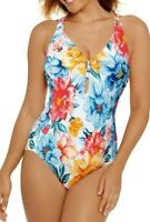TIME AND TRU  WOMEN'S  KABASH FLORAL ONE PIECE SWIMSUIT  SWIMWEAR