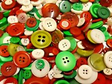 100 Christmas Sewing Buttons Free Shipping
