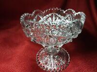 Heavy  Glass  Stunning Crystal Bowl