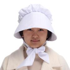 Victorian Women Lolita Adult Gothic Bonnet Maid Cosplay Vintage White Sun Hat
