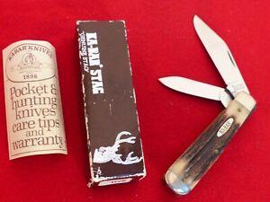 Ka-Bar USA Made mint in box 1190 STAG jumbo trapper knife ld