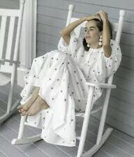 Zara Embroidered Midi Dress Puff Sleeves Ruffled White 4786/067 XS-XXL