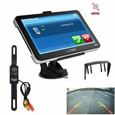 "XGODY Wireless Reverse Camera+7"" Car GPS Navigation Bluetooth AV-IN 8GB Free Map"