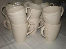 "Lot/Set 18 Wedgwood Windsor England Rib Dot Ribbed 4"" Coffee Mugs Cups"
