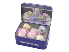 TEA PARTY IN A TIN Gift for kids childrens craft Travel toy fun New
