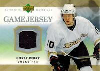 Upper Deck 2007/08 Series 1: UD Game Jersey Card of Corey Perry J-PE