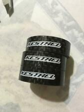 "KESTREL10mm 3K CARBON Headset /Steerer Spacer 1-1/8"" 28.6mm -  Black, Pack of 3"