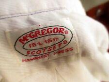 LARGE True Vtg 60s McGREGOR Scotset TRASH FADED THIN MOD SHIRT