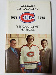 Montreal Canadiens 1975-76 Yearbook With Ken Dryden, Guy Lafleur