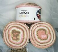 CARON COTTON CAKES YARN by Yarnspirations ~ Blush and Bloom ~ NEW 3-Pack Lot