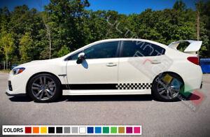 Sticker Decal Vinyl Side Door Stripe for Subaru Impreza WRX Racing Bumper carbon