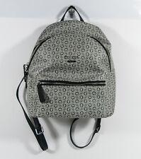 Guess Zayn Signature G Logo Gray Coated Black Backpack Purse Shoulder Bag *