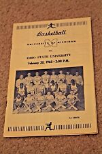 1965 MICHIGAN Wolverines v. Ohio State COLLEGE BASKETBALL PROGRAM Cassie Russell