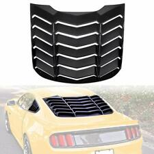 ABS Rear Window Louvers Scoop Louvers GT Lambo Style in Matte Black Ford Mustang