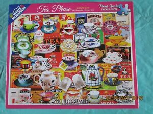 Tea Please art by Charlie Girard 550 Piece Puzzle by White Mountain