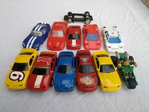 1/43 Slot Car cars + bodies and a chassis lot for parts racing Unknown makers