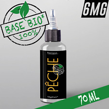 E-liquide 6mg Bio* PECHE 50%|50% 70ml Cigarette électronique 🔥PRIX PROMO 🔥
