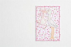Pink Print Stork Small Album