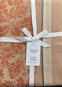 "Williams-Sonoma Acorn Harvest Jacquard Tablecloth  70""x108"" In Gold & Pumpkin"