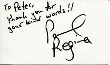 """PAUL REGINA """"BROTHERS"""" """"ZORRO AND SON"""" ACTOR SIGNED CARD AUTOGRAPH"""