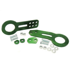 Green Anodized Billet CNC Aluminum Tow Hook Set Front+Rear FIT FRS TC IS250