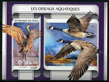 NIGER 2017  AQUATIC BIRDS   SOUVENIR SHEET MINT NH