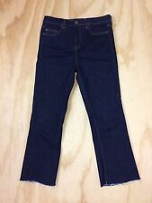 Topshop Moto Tally Crop Boot Cut High Waist 28 x 25 Stretch Cotton Denim Jeans