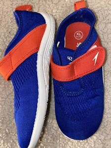 Speedo Boys Water Shoes 11/12 Blue/Red