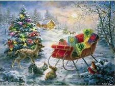 Christmas Jigsaw Puzzle 500 Pieces Sunsout Twas the Night 18x24 Eco-Friendly NEW