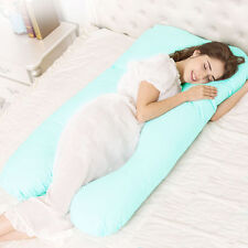 Pregnancy Pillow Maternity Belly Contoured Body U Shape Extra Comfort Blue