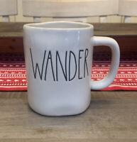 Rae Dunn by Magenta - WANDER - LL White Ceramic Coffee Tea Mug