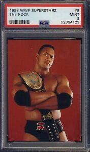 1998 WWF Superstarz #8 The Rock PSA 9 MINT RC NEW PSA GRADE  Ships F CAN & USA