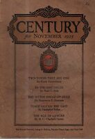 1925 Century November - Terre haute IN; Rise and Fall of Greenwich Village;