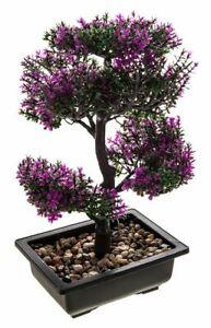 BONSAI TREE POT ARTIFICIAL PLANT DECORATION HOME DESK WINDOWSILL ORNAMENT FAKE