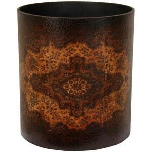 """Oriental Furniture Olde Worlde European Waste Basket Trash Dust Bin 10"""" x 11.5"""""""