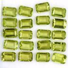 Wholesale Lot 6x4mm Octagon Emerald Cut Natural Peridot Loose Calibrated Gems