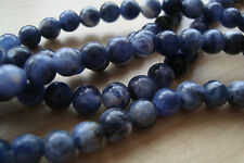 ** Natural Sodalite Round Stones 6mm Dia. x 30Pcs**