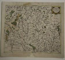 FRANCONIA GERMANY 1638 MATTHAUS MERIAN UNUSUAL ANTIQUE COPPER ENGRAVED MAP