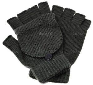 NEW Unisex Mitten Gloves Fingerless Insulated Knit Winter Gloves Men Women Warm