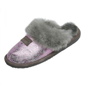 Lambskin Slippers - Sydney Model 9 Ladies Slippers fur Shoes