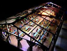 FALLER HO maquette montée tente fête musique éclairée maison bière figurines
