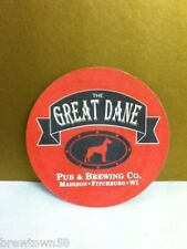 The Great Dane Pub and Brewing Company Madison Fitchburg Wi coaster stained R6