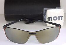 NEW AUTHENTIC RENOMA REMUS 4560 Gunmetal Stainless Steel Shield Sunglasses