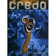 CREDO - THIS IS WHAT WE DO: LIVE IN POLAND NEW REGION 0 DVD