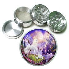 "Unicorns D6 Aluminum Herb Grinder 2.5"" 63mm 4 Piece Mythical Creature"