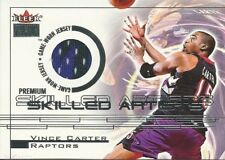 2000-2001 Fleer Vince Carter Jersey #/100 Toronto Raptors North Carolina